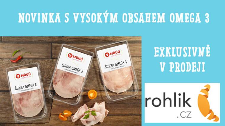MÚÚÚ Šunka Omega 3 exklusivně jen v prodeji Rohlik.cz :-)