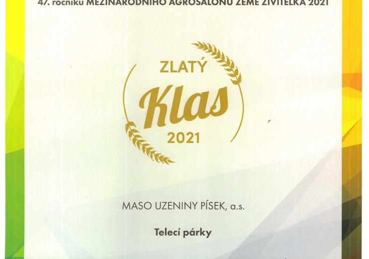 MÚÚÚ Telecí párky-Zlatý klas 2021